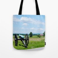 battlefield Tote Bags featuring Gettysburg Battlefield 3 by Scenic Sights by Tara