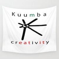 creativity Wall Tapestries featuring kuumba = creativity by Ginnie McKnight