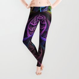 Prismatic Rainbow Shards of a Stained Glass Motif Leggings