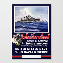 Take The Wheel -- United States Navy Canvas Print