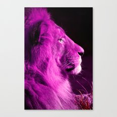 Pretty Kitty in Purple Canvas Print