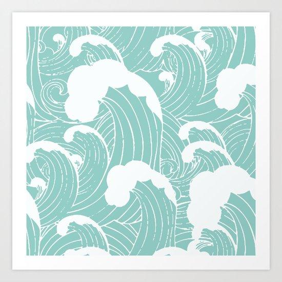 Refreshing waves Art Print