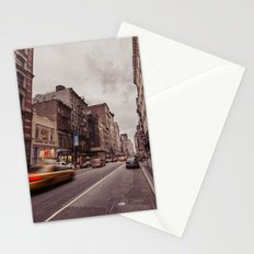 A Yellow Cab In SoHo Stationery Cards