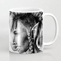warcraft Mugs featuring Punk Troll by Georgia Goddard