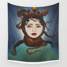 MUSHROOM GIRL Wall Tapestry