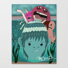 """Aquaboy"" by Kieran David Canvas Print"