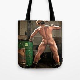 Hot Naked Working Man Tote Bag