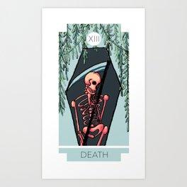 Death Tarot Card XIII Art Print