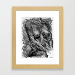 Straight out of Charcoal Framed Art Print