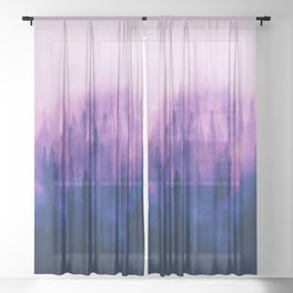 Pine Tree Fantasy Forest Landscape V.1 Sheer Curtain