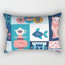Modern Russian Folk Art Rectangular Pillow