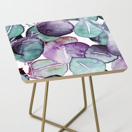mystic eucalyptus leaves Side Table