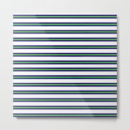 Nautical Stripes Metal Print