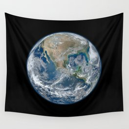Planet Earth from Space Wall Tapestry
