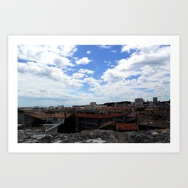 Over the Top of the Arena of Nîmes France Two Art Print