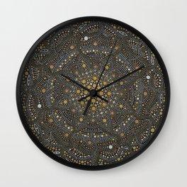 Cosmic Breath - Dot Mandala Wall Clock