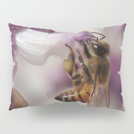 Worker Bee on Mexican Sage Pillow Sham