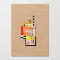 brasil Canvas Prints featuring Brasil by Fitacola