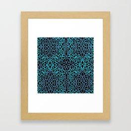 celtic blue Framed Art Print