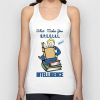 fallout 3 Tank Tops featuring Intelligence S.P.E.C.I.A.L. Fallout 4 by sgrunfo
