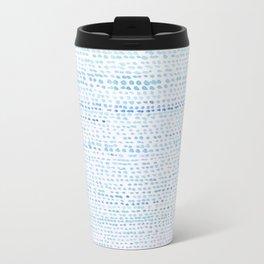 BLUE/GREEN DOTTED PATTERN  Travel Mug