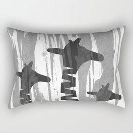 Unique Abstract Giraffe Family Rectangular Pillow