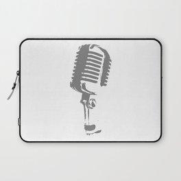Microphone Silhouette Grey Laptop Sleeve