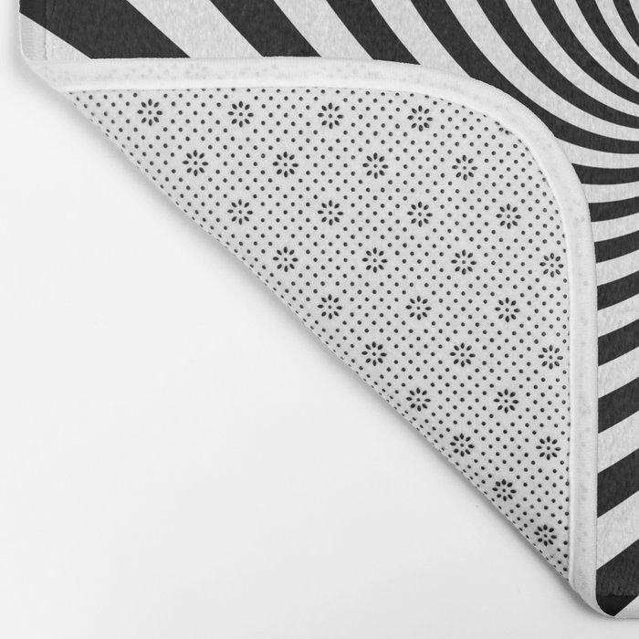 Swirl (Black/White) Bath Mat
