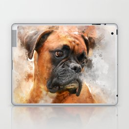 Boxer Dog Thinking Laptop & iPad Skin