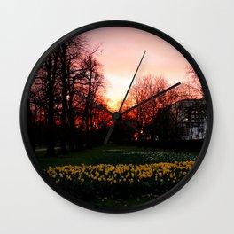 Spring magic hour Wall Clock
