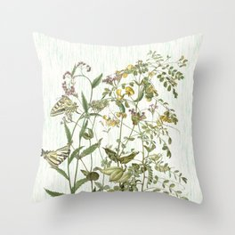 Cultivating my mind garden Throw Pillow