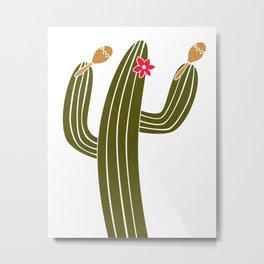 Happy Cactus Metal Print