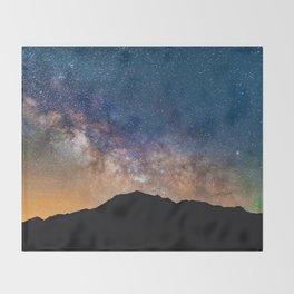 Mountain Galaxy (Color) Throw Blanket