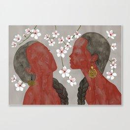 cherry blossom girls Canvas Print