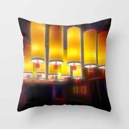 Chinese Style Hanging Ceiling Lights in Cafe Throw Pillow