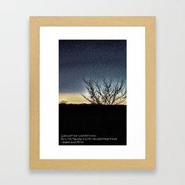 Imagining Nights Framed Art Print