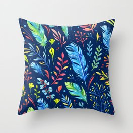 Feathers Pattern 02 Throw Pillow