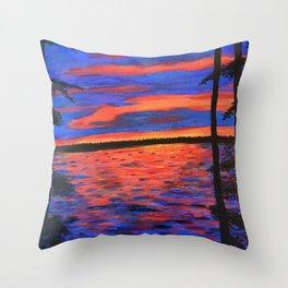 Blissful Evening Throw Pillow