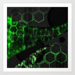 Digital Noise Art Print