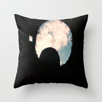 castle in the sky Throw Pillows featuring Sky Castle  by Ambers Vintage Find