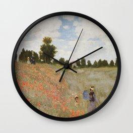 Claude Monet's Coquelicots: La Promenade Wall Clock