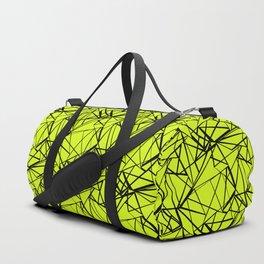 An abstract geometric pattern . Yellow green pattern . Duffle Bag