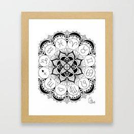 Celestial Sphere Framed Art Print