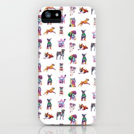 Rainbow Dogs Everywhere iPhone Case