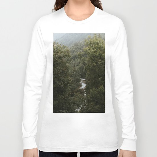 Forest Valley River - Landscape Photography Long Sleeve T-shirt