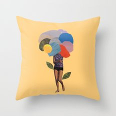 i dream of you amid the flowers Throw Pillow