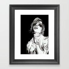 Poet I Black Framed Art Print