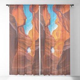 SAND & SKY ANTELOPE CANYON ARIZONA SOUTHWEST LANDSCAPE Sheer Curtain