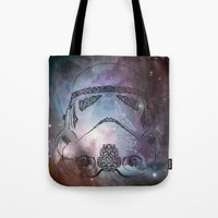 storm Tote Bags featuring storm  by Vickn