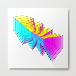 Cubes 4 Metal Print